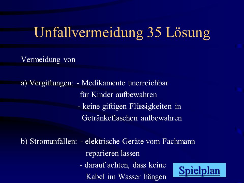 Unfallvermeidung 35 Lösung