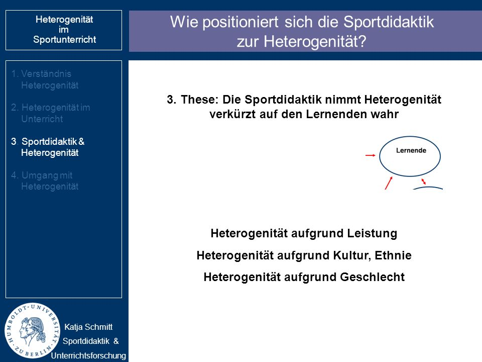 Wie positioniert sich die Sportdidaktik zur Heterogenität