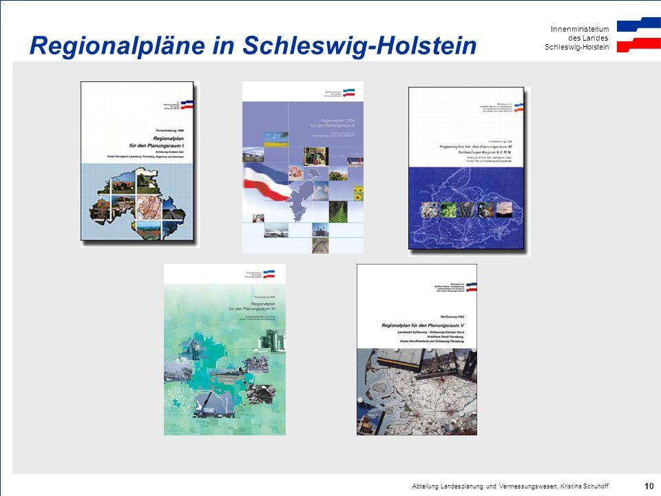 Regionalpläne in Schleswig-Holstein
