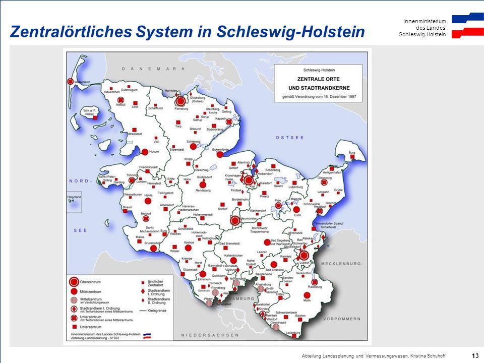 Zentralörtliches System in Schleswig-Holstein