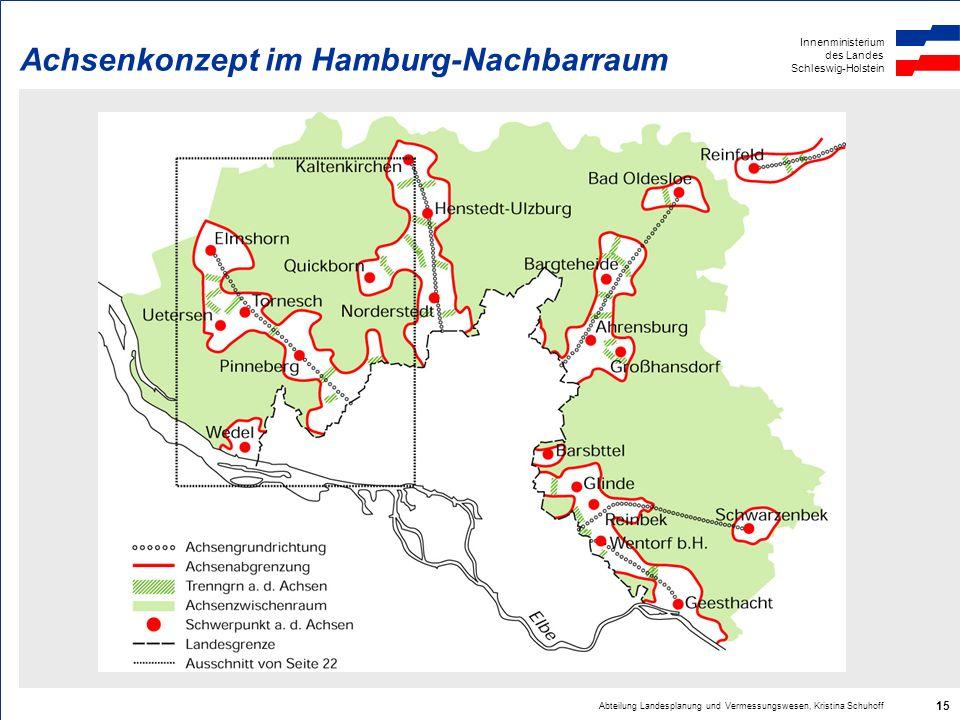 Achsenkonzept im Hamburg-Nachbarraum
