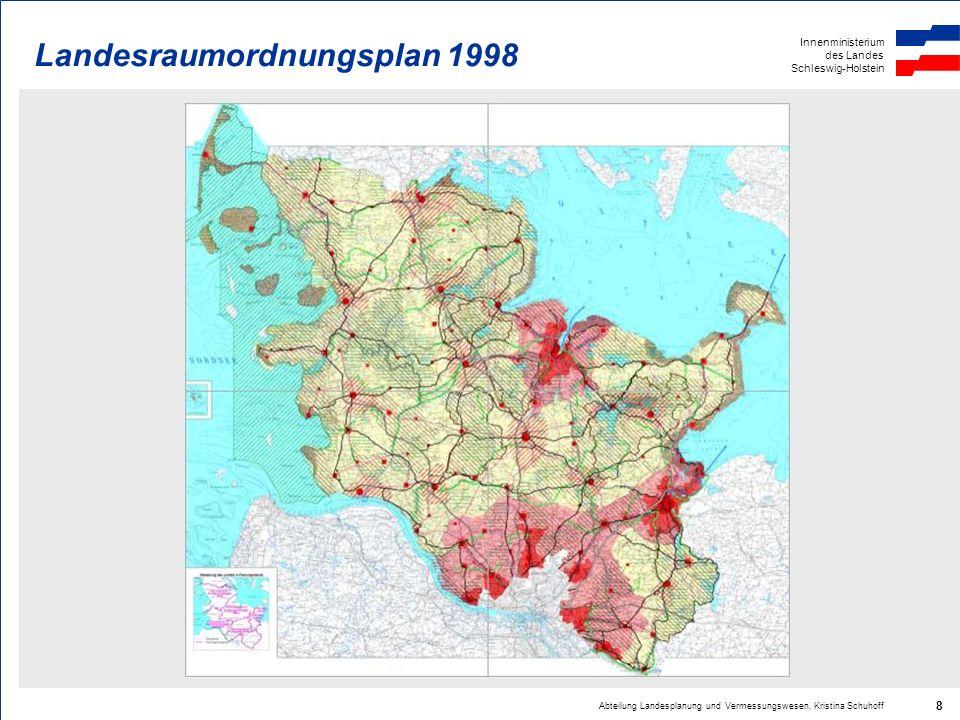 Landesraumordnungsplan 1998