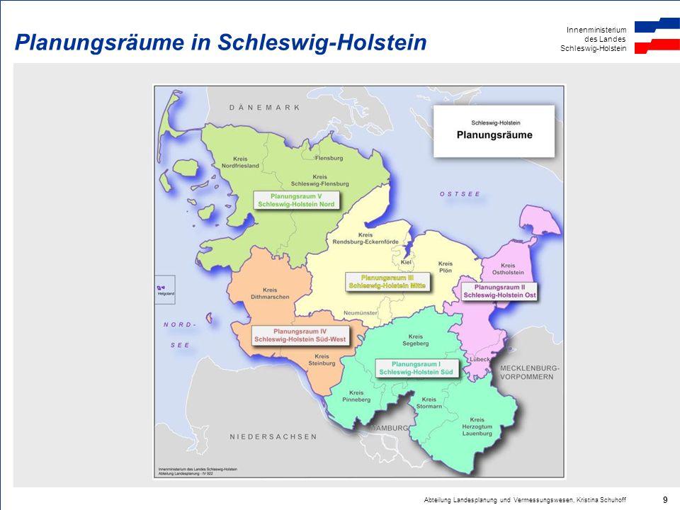 Planungsräume in Schleswig-Holstein