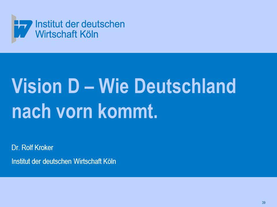 Vision D – Wie Deutschland nach vorn kommt.