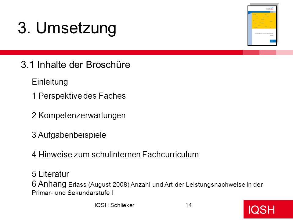 3. Umsetzung 3.1 Inhalte der Broschüre Einleitung