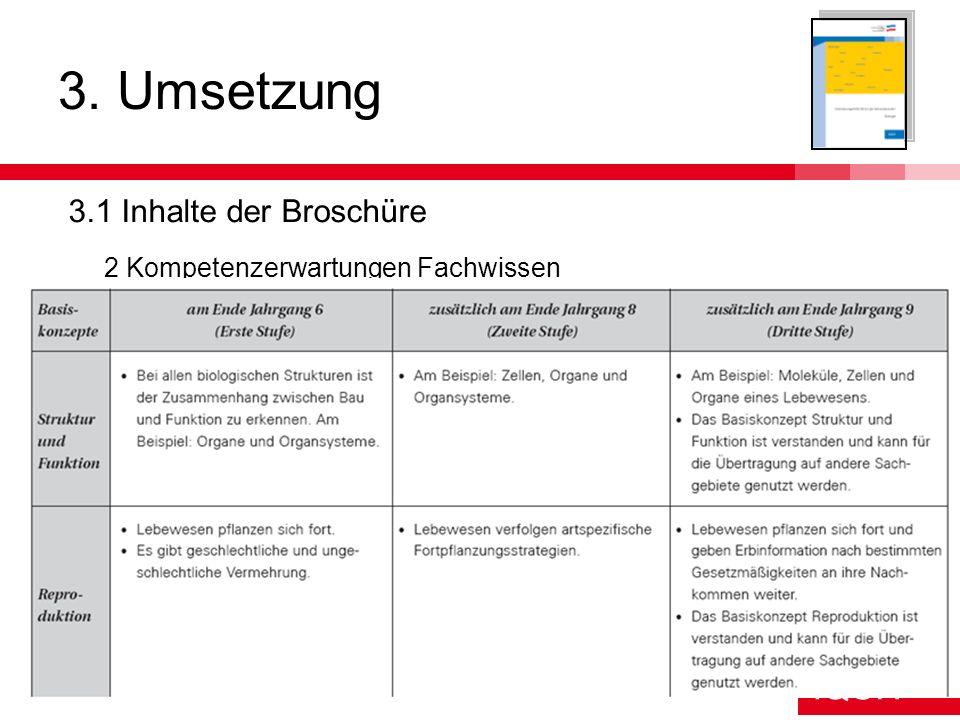 3. Umsetzung 3.1 Inhalte der Broschüre
