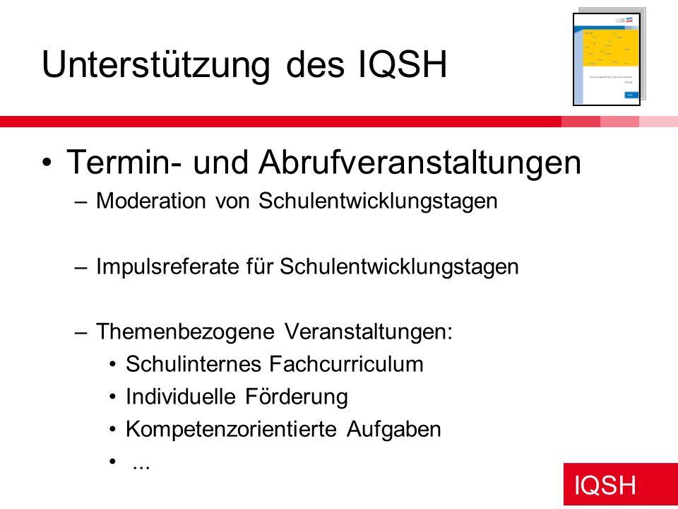 Unterstützung des IQSH