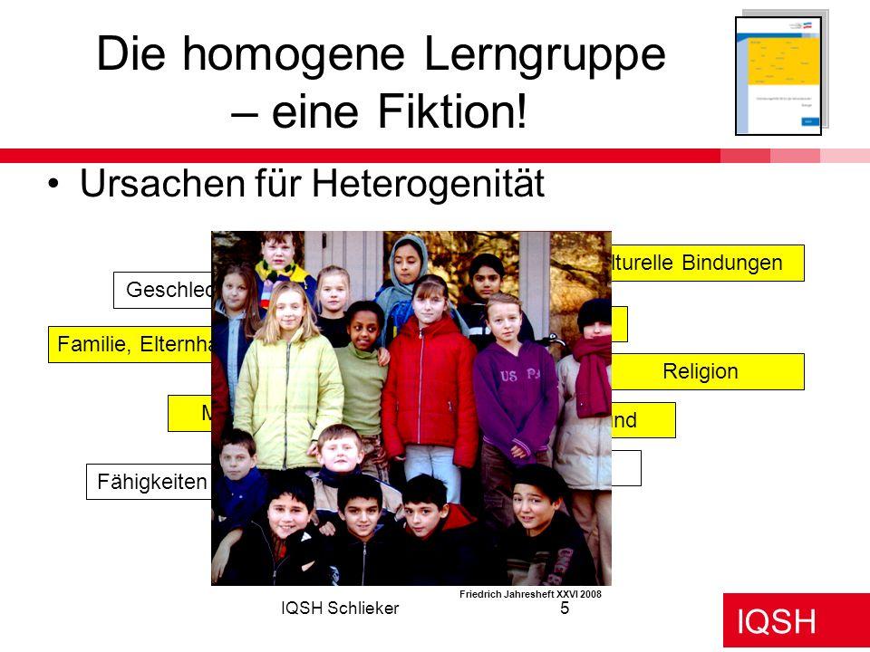 Die homogene Lerngruppe – eine Fiktion!