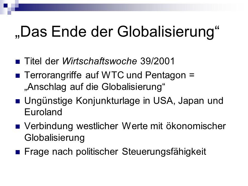 """""""Das Ende der Globalisierung"""
