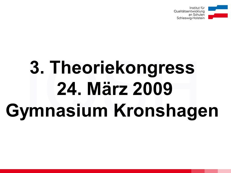 3. Theoriekongress 24. März 2009 Gymnasium Kronshagen