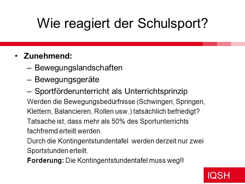 Wie reagiert der Schulsport