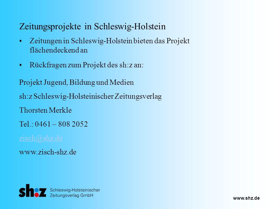 Zeitungsprojekte in Schleswig-Holstein