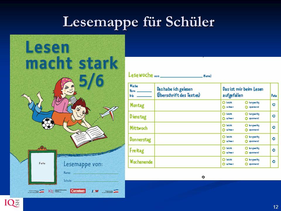 Lesemappe für Schüler