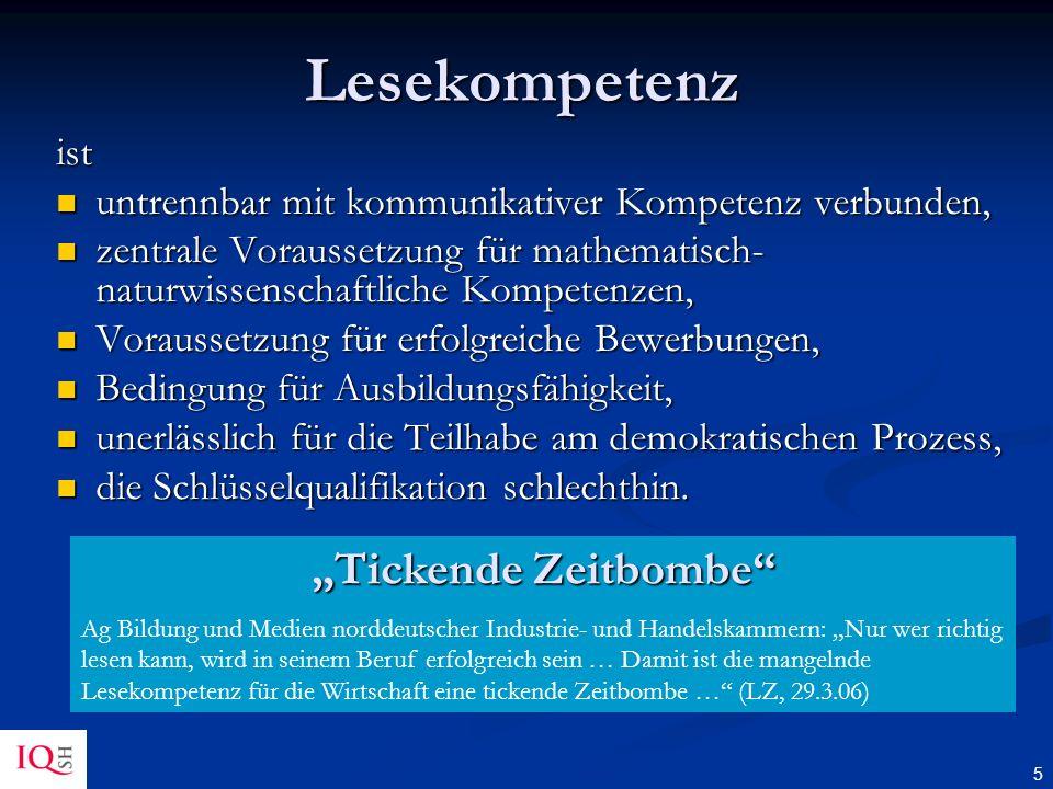 """Lesekompetenz """"Tickende Zeitbombe ist"""