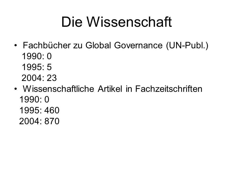 Die Wissenschaft Fachbücher zu Global Governance (UN-Publ.) 1990: 0