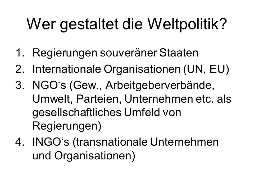 Wer gestaltet die Weltpolitik