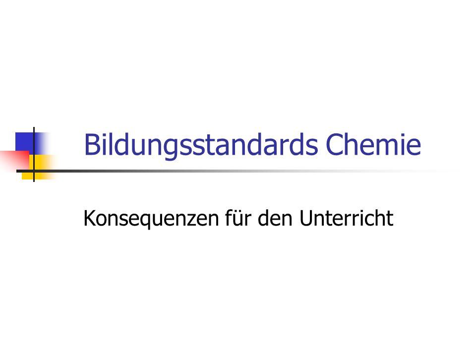 Bildungsstandards Chemie