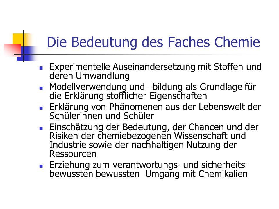 Die Bedeutung des Faches Chemie