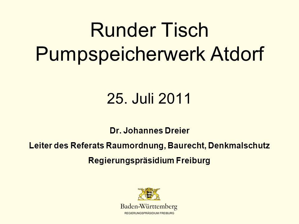 Runder Tisch Pumpspeicherwerk Atdorf 25. Juli 2011