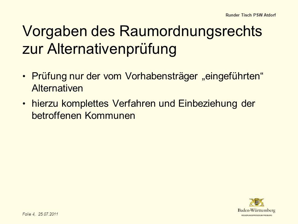 Vorgaben des Raumordnungsrechts zur Alternativenprüfung