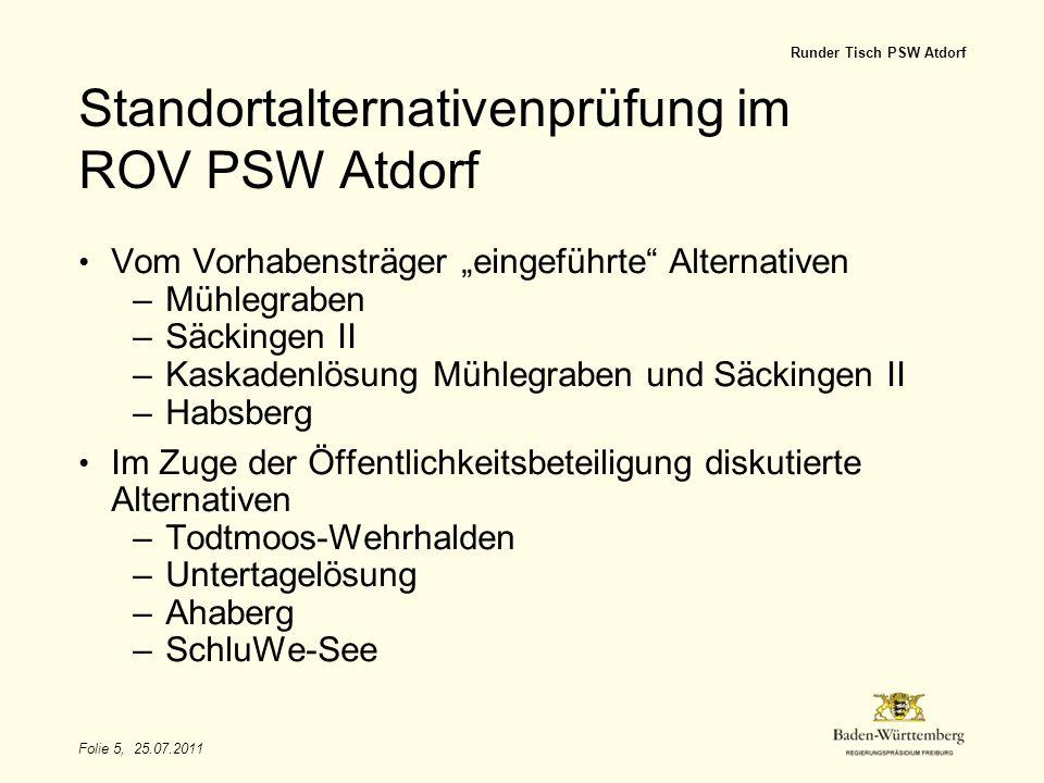 Standortalternativenprüfung im ROV PSW Atdorf