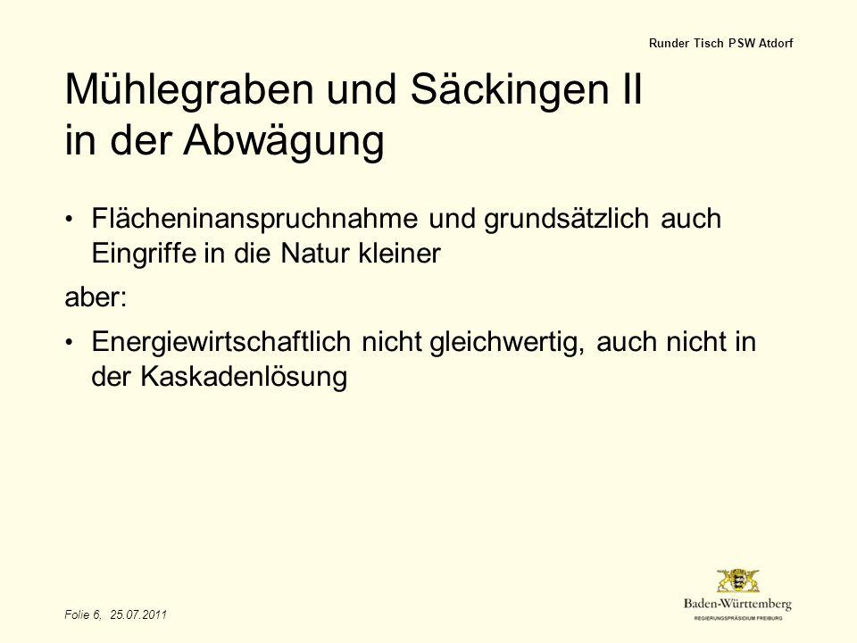 Mühlegraben und Säckingen II in der Abwägung