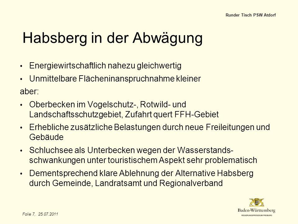 Habsberg in der Abwägung