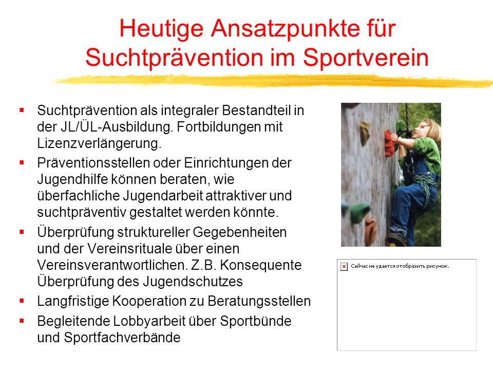 Heutige Ansatzpunkte für Suchtprävention im Sportverein