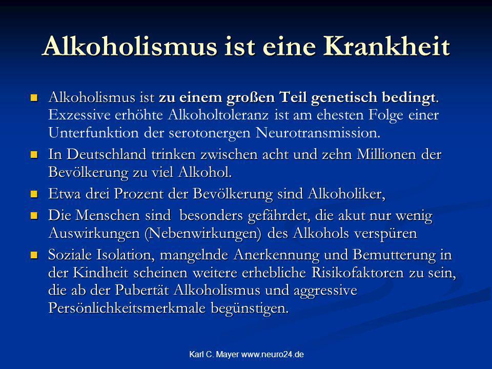 Alkoholismus ist eine Krankheit