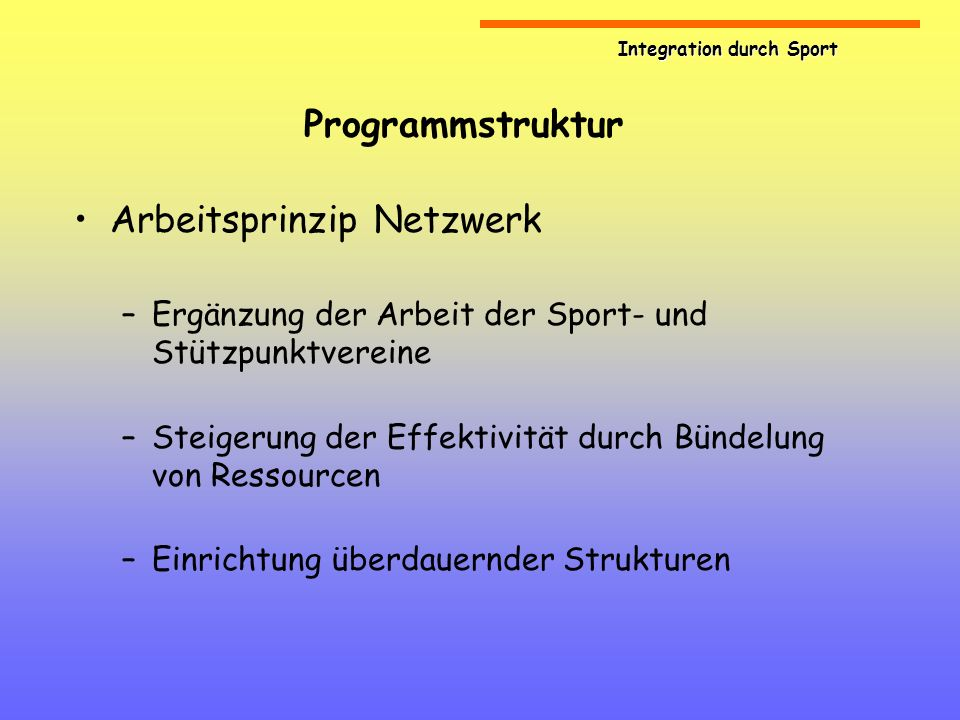 Arbeitsprinzip Netzwerk