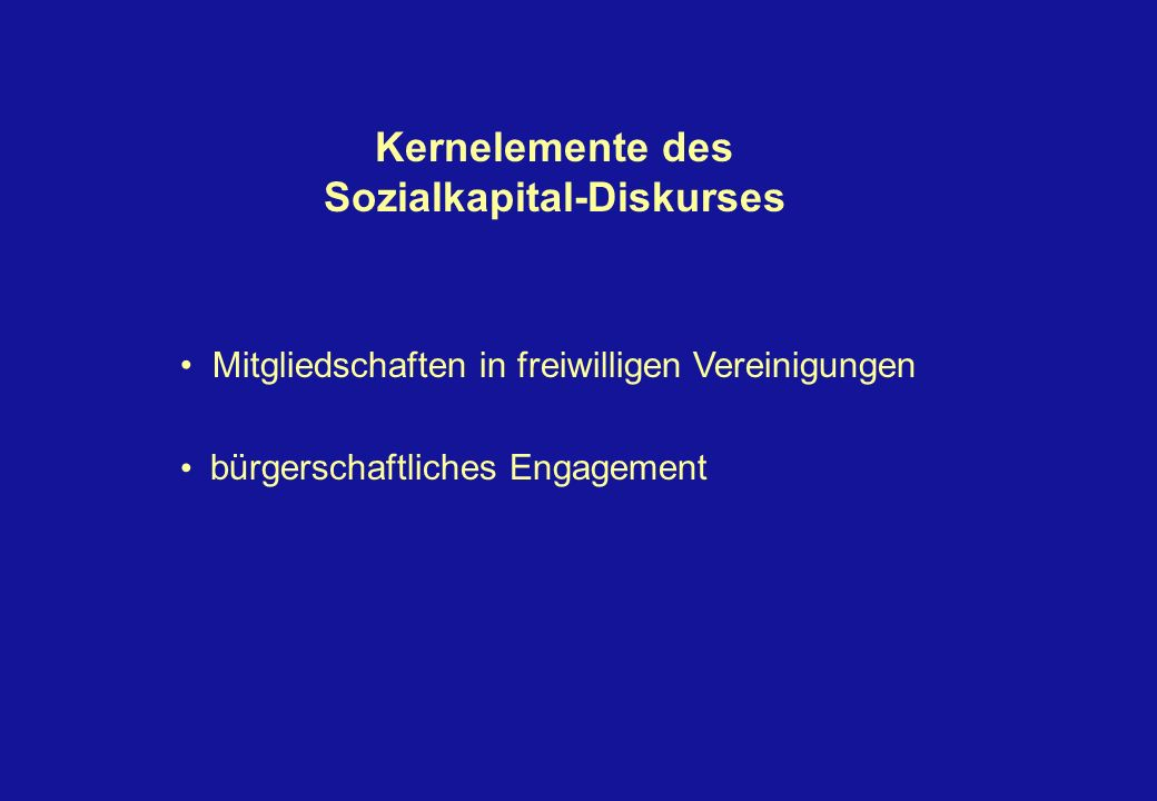 Sozialkapital-Diskurses