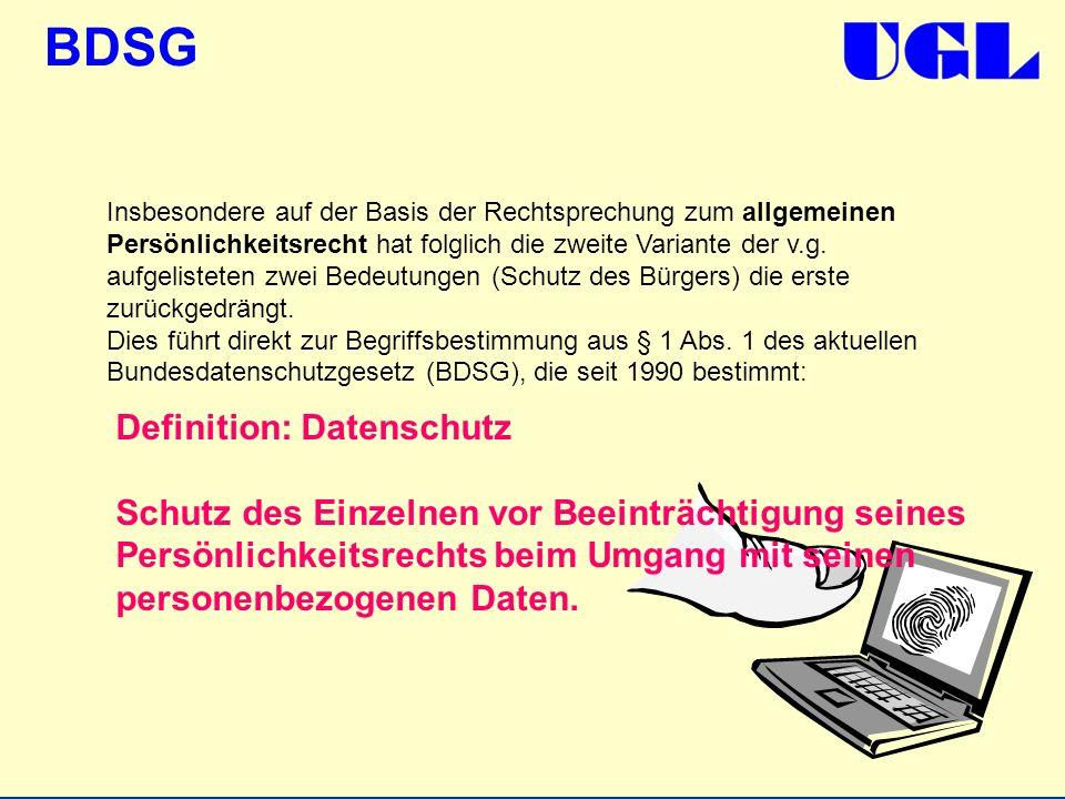 Definition: Datenschutz