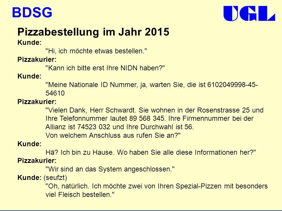 Pizzabestellung im Jahr 2015