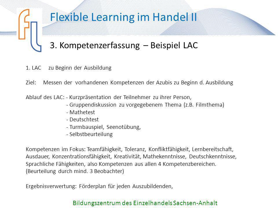 3. Kompetenzerfassung – Beispiel LAC