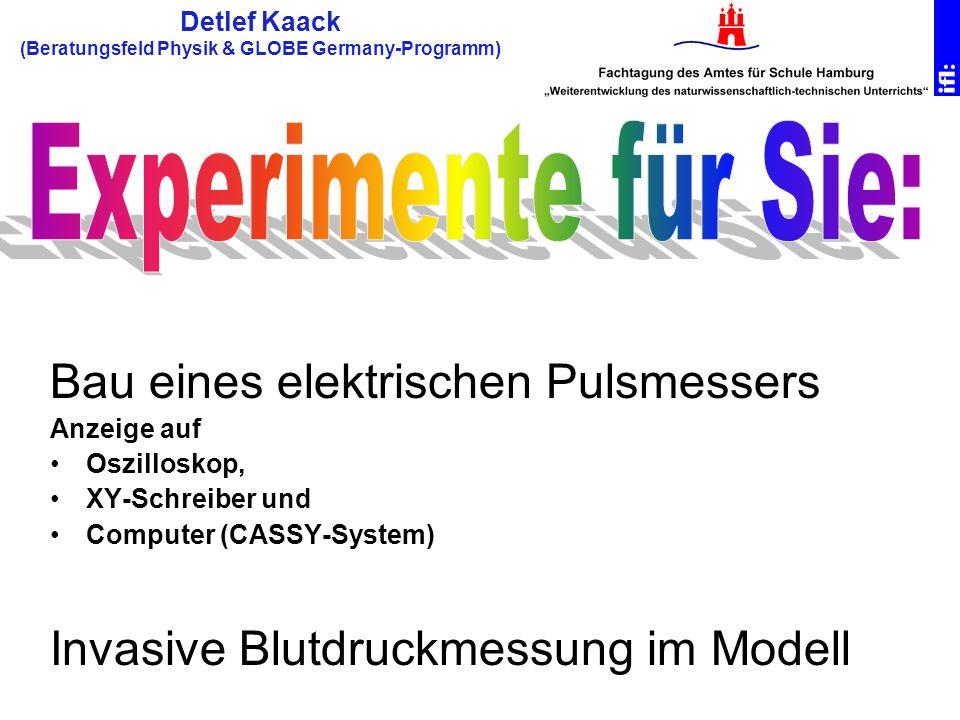 Detlef Kaack (Beratungsfeld Physik & GLOBE Germany-Programm)