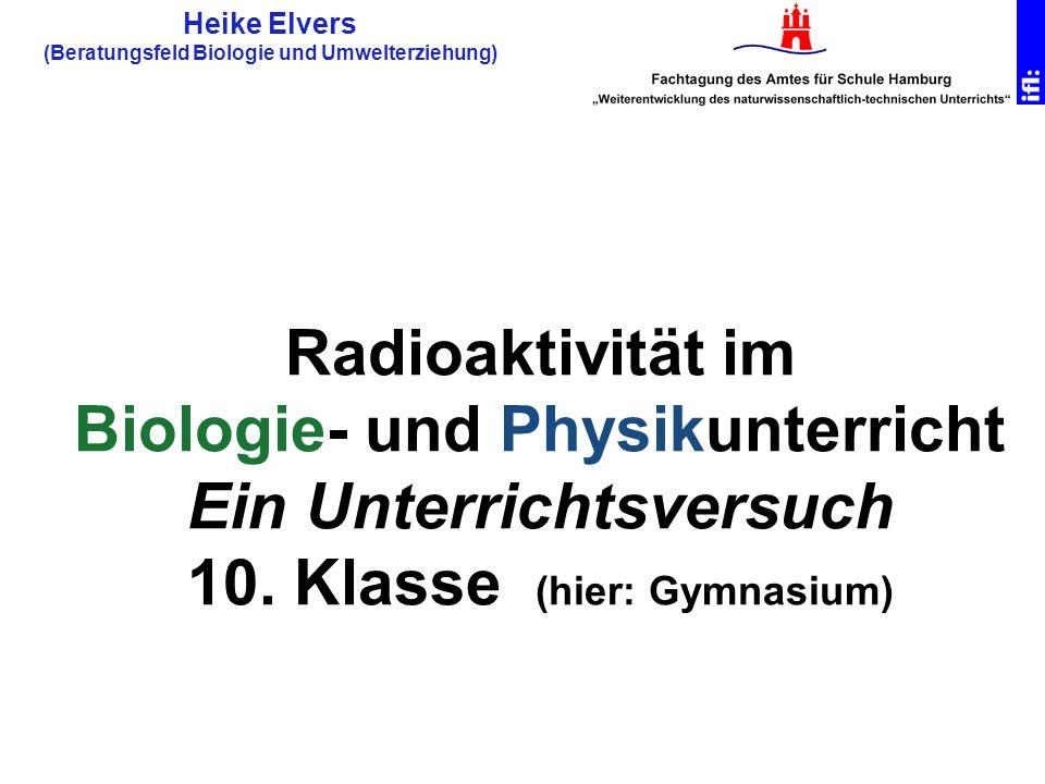 Heike Elvers (Beratungsfeld Biologie und Umwelterziehung)