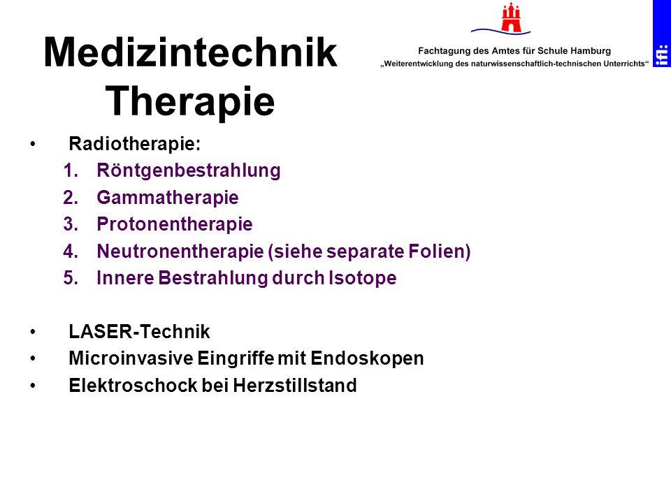 Medizintechnik Therapie