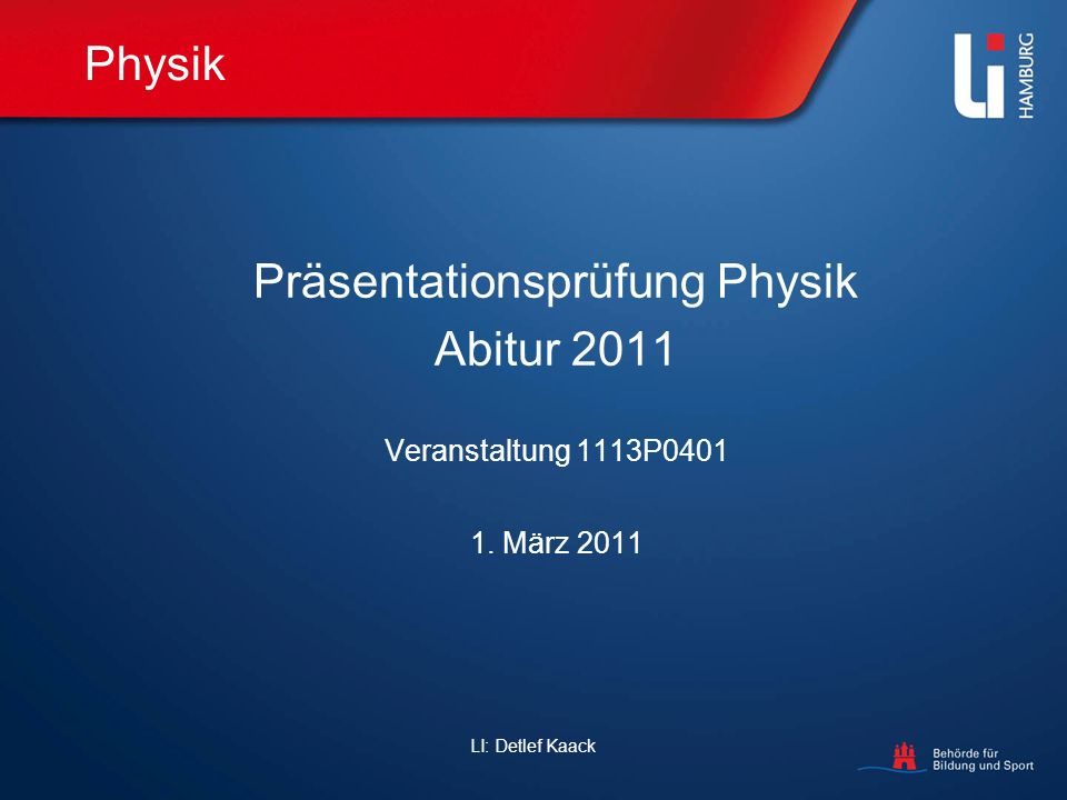 Präsentationsprüfung Physik