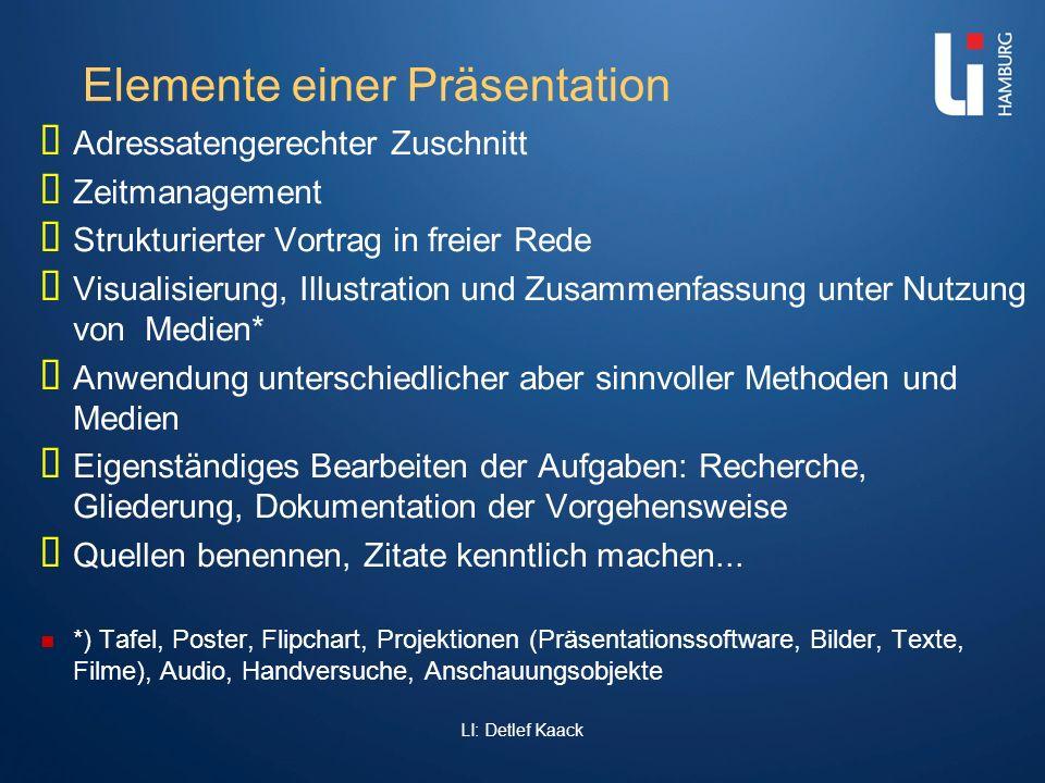 Elemente einer Präsentation