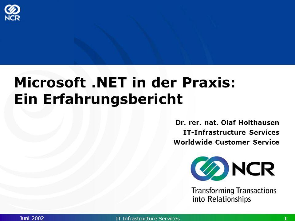 Microsoft .NET in der Praxis: Ein Erfahrungsbericht