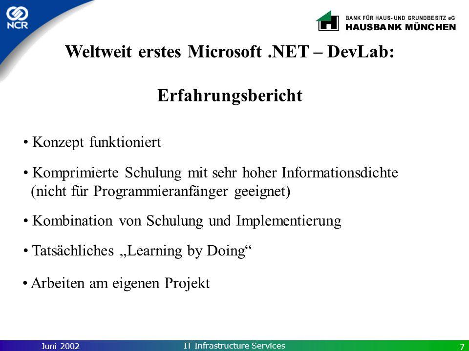 Weltweit erstes Microsoft .NET – DevLab: Erfahrungsbericht