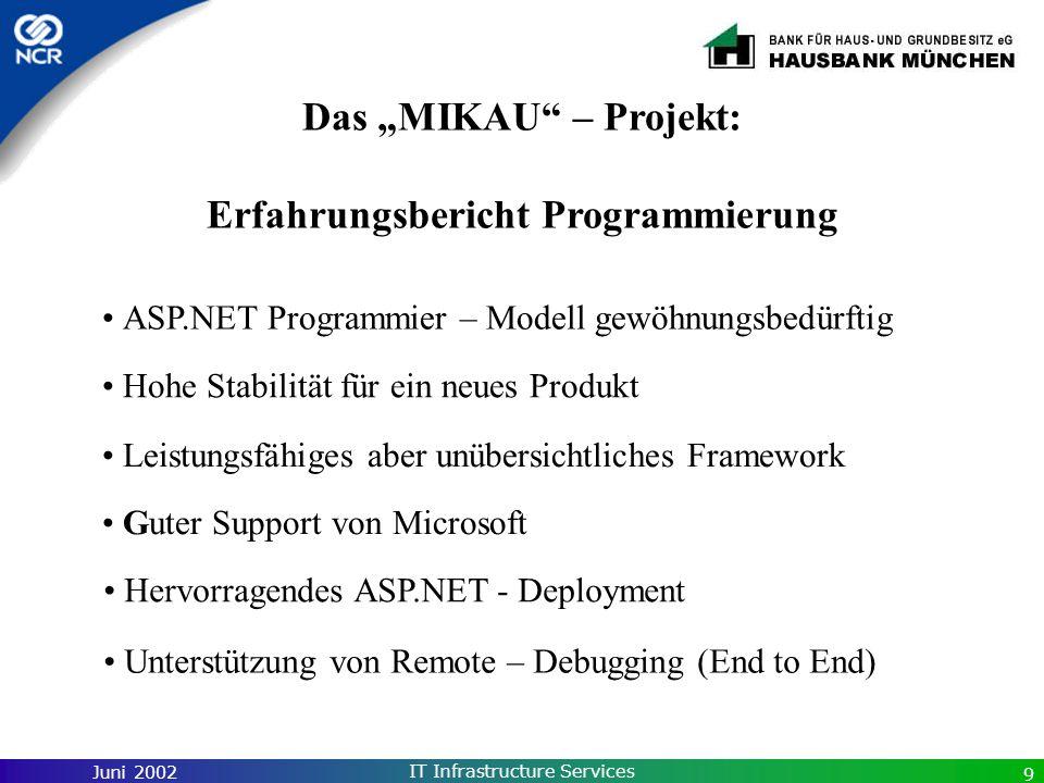 """Das """"MIKAU – Projekt: Erfahrungsbericht Programmierung"""