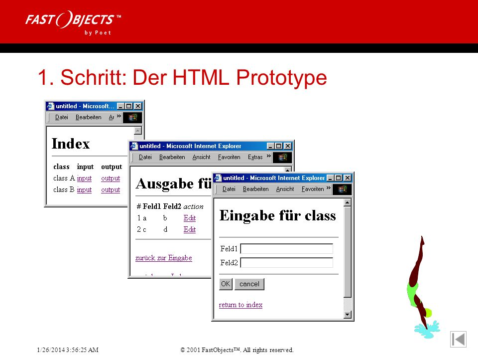 1. Schritt: Der HTML Prototype