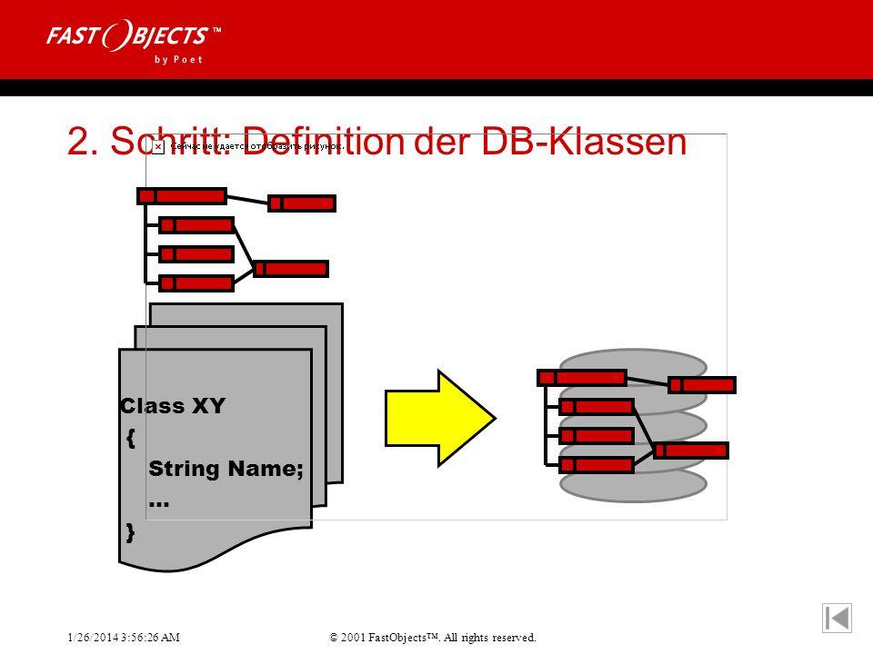 2. Schritt: Definition der DB-Klassen