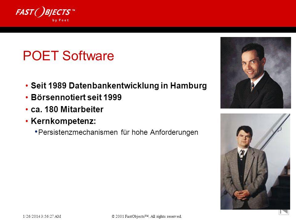 POET Software Seit 1989 Datenbankentwicklung in Hamburg