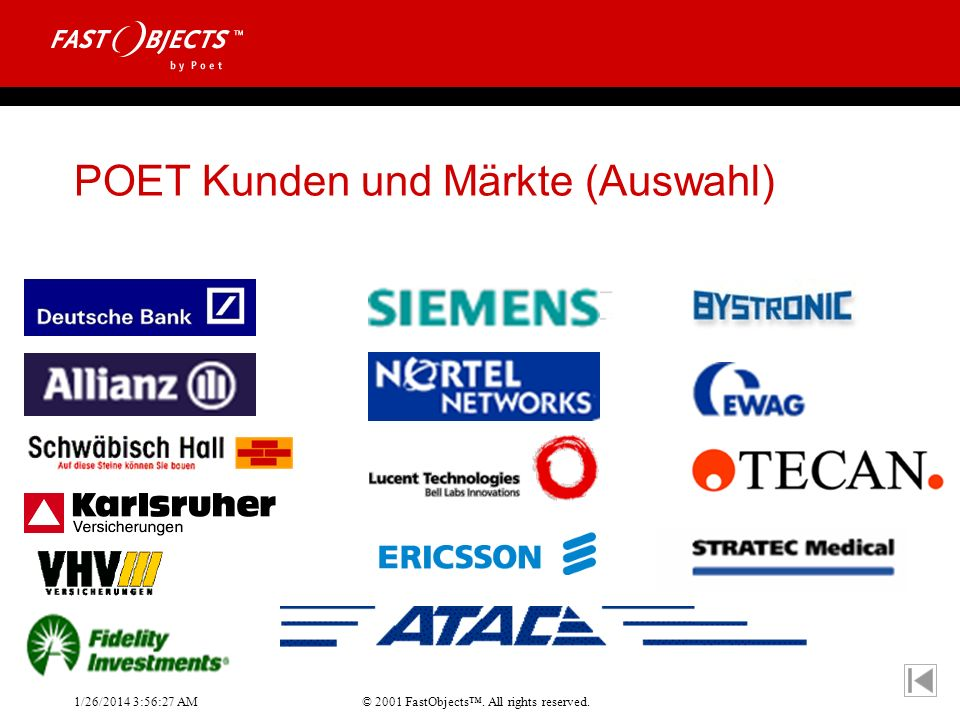 POET Kunden und Märkte (Auswahl)