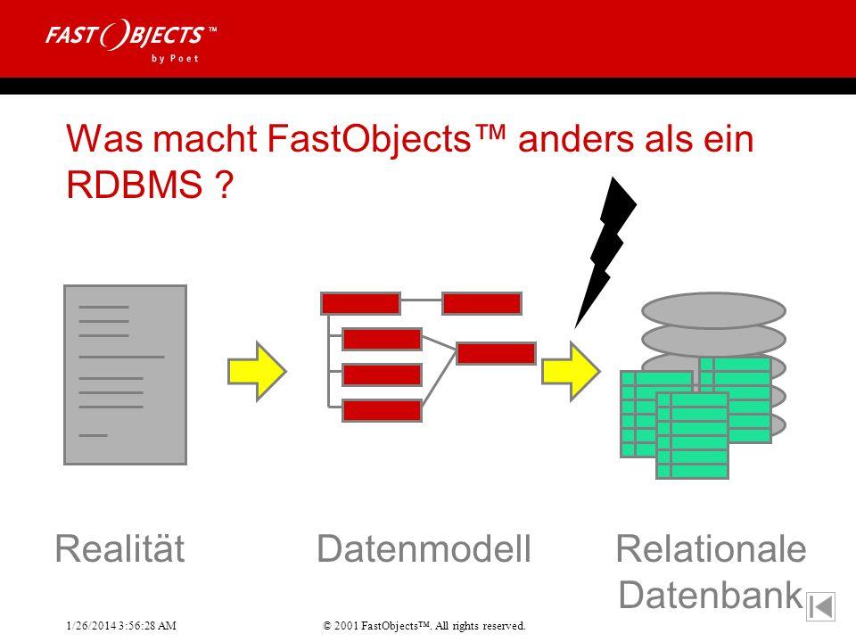 Was macht FastObjects™ anders als ein RDBMS