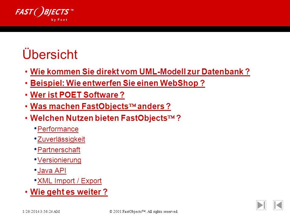 Übersicht Wie kommen Sie direkt vom UML-Modell zur Datenbank