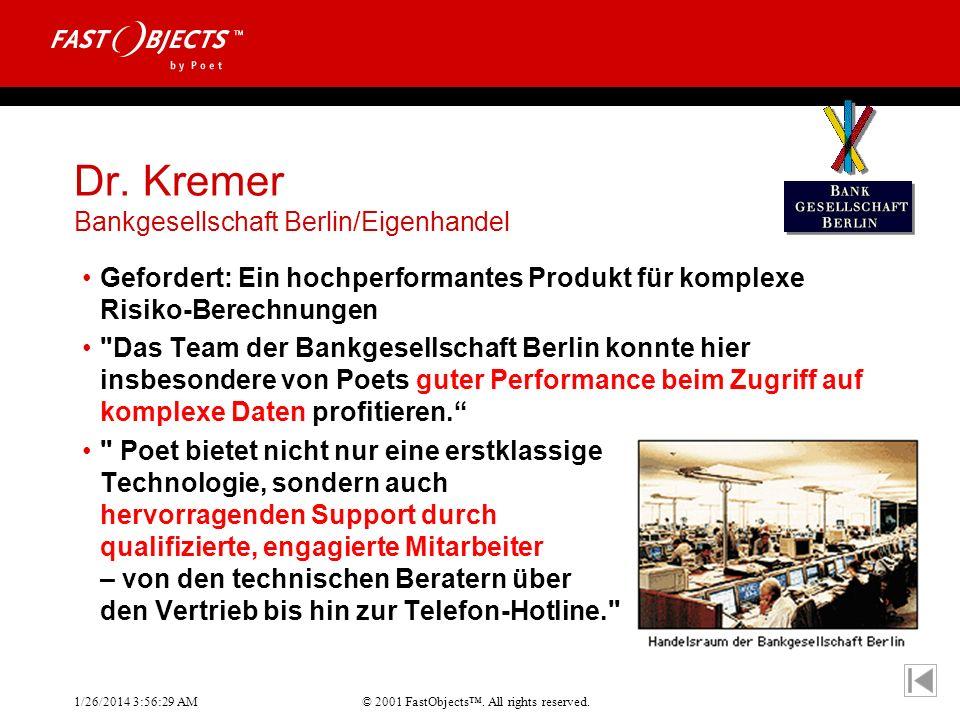 Dr. Kremer Bankgesellschaft Berlin/Eigenhandel