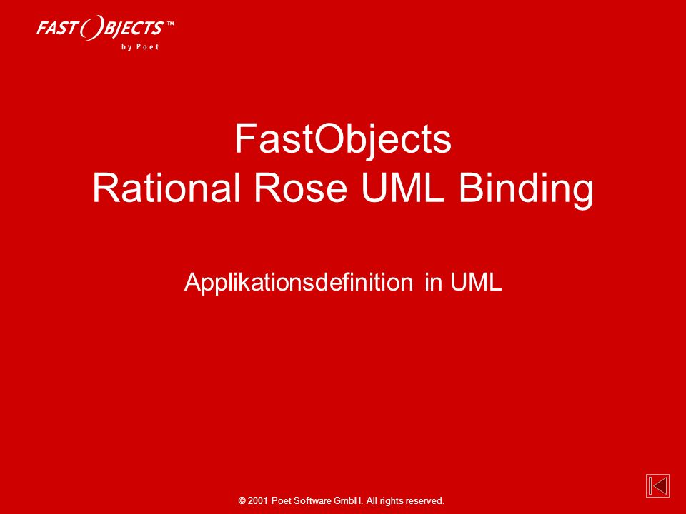 FastObjects Rational Rose UML Binding